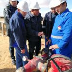 wepco egypt WEPCO President inspects the well exploration 9_8 Bed and well development Bed 1-38 at Badr-1 site