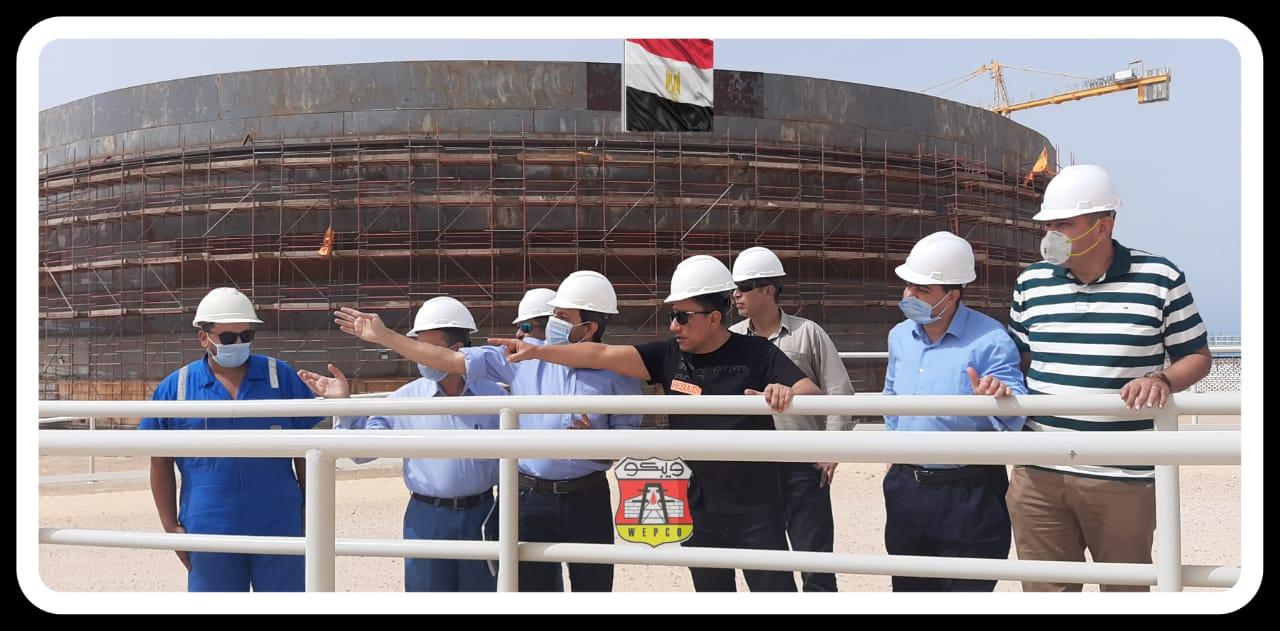 wepco egypt «ويبكو للبترول» مسعود يتفقد تحديث و تشغيل منظومة الاطفاء بمدافع الرغوي «بميناء الحمراء البترولي» ويترأس إجتماع «السلامة» الرئيسي